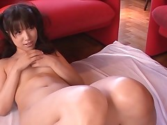 Breasty Asian charms a palpitating pecker with wet sucking